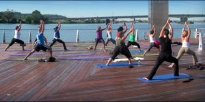 Upcoming events: June Yoga at the Yards and Chapter Meeting + Happy Hour Social